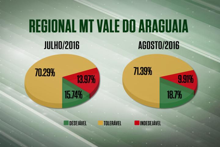 Vale do Araguaia se recupera com grande evolução no bimestre