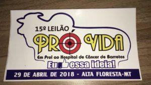 Alta Floresta-MT recebe 15º leilão em prol do Hospital de Amor neste domingo, 29